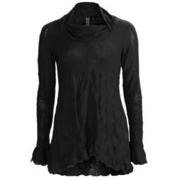 Sno Skins Crinkle Pointelle Tunic Shirt - Long Sleeve (For Women)