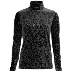 Sno Skins Embossed Plush Tech Velvet Turtleneck - Long Sleeve (For Women)