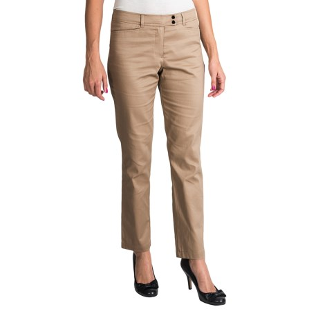 Womyn Stretch Cotton Sateen Pants (For Women)