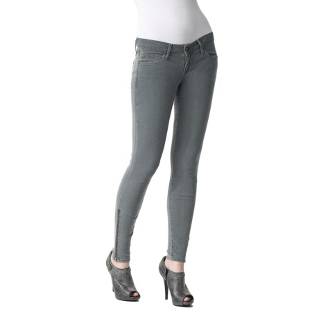 Agave Nectar Moda Santa Barbara Super Stretch Jeggings - Low Rise, Ankle Zips (For Women)