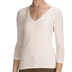 Agave Nectar Beatriz Shirt - Stretch Supima® Cotton-TENCEL® Jersey, 3/4 Sleeve (For Women)