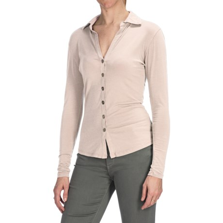 Agave Nectar Inez Shirt - Stretch Supima® Cotton-TENCEL® Jersey, Long Sleeve (For Women)