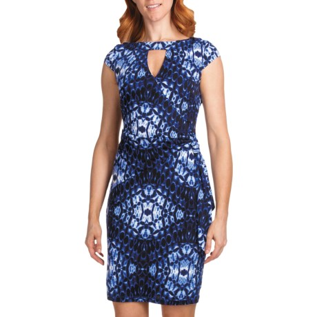 Muse Surplice Cutout Jersey Dress - Short Sleeve (For Women)