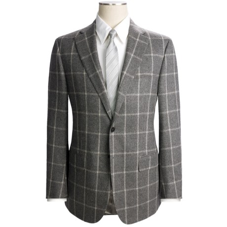 Isaia Windowpane Suit - Wool-Cashmere (For Men)