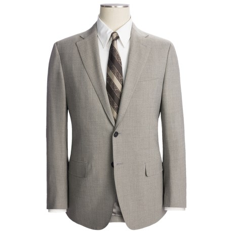 Isaia Fancy Solid Suit - Stretch Wool (For Men)