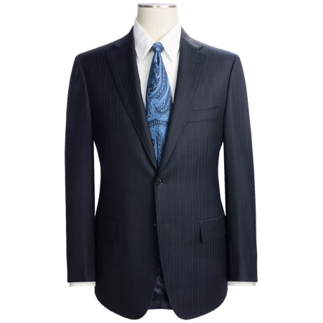 Isaia Wool Beaded Stripe Suit (For Men)