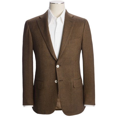 Isaia Herringbone Sport Coat - Wool-Cashmere-Silk (For Men)