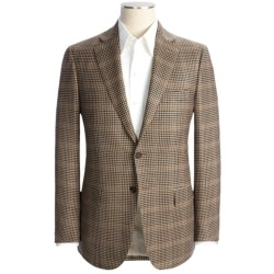 Isaia Wool-Cashmere Check Sport Coat - Windowpane Overlay (For Men)
