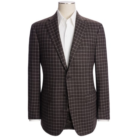 Isaia Check Sport Coat - Wool-Cotton-Cashmere (For Men)