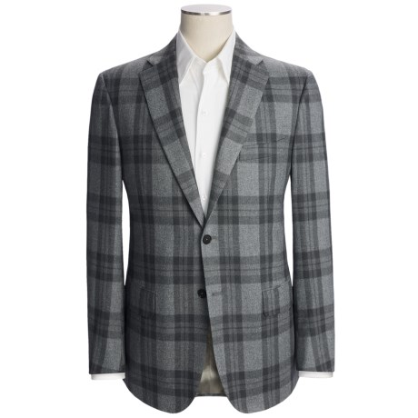 Isaia Plaid Sport Coat - Wool-Cotton-Cashmere (For Men)
