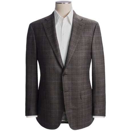 Isaia Glen Plaid with Windowpane Overlay Sport Coat - Wool-Silk Blend (For Men)