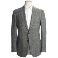Isaia Plaid with Windowpane Overlay Sport Coat - Wool-Cashmere (For Men)