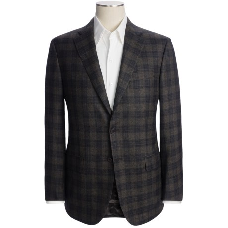 Isaia Plaid Sport Coat - Wool (For Men)