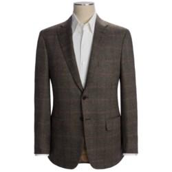 Isaia Birdseye Sport Coat with Windowpane Overlay - Wool (For Men)