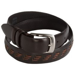 Soft Collection by Bill Lavin Feather Edge Belt - Calfskin Leather (For Men)