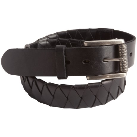 Leather Island by Bill Lavin Basket Weave Belt - Braided Leather (For Men)
