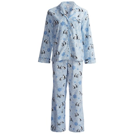 Flannel Pajamas - Long Sleeve (For Women)