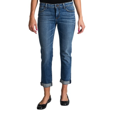 Stretch Cotton Ankle Jeans - Tapered Leg (For Women)