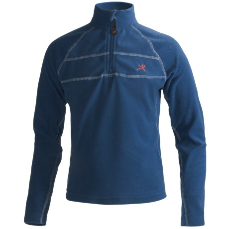 Terramar Microfleece Thermolator Base Layer Top - Heavyweight, Zip Neck, Long Sleeve (For Boys)