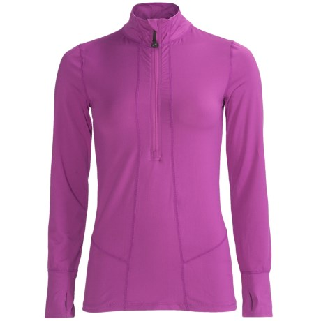 Terramar Cloud Nine Top - Midweight, Zip Neck, Long Sleeve (For Women)
