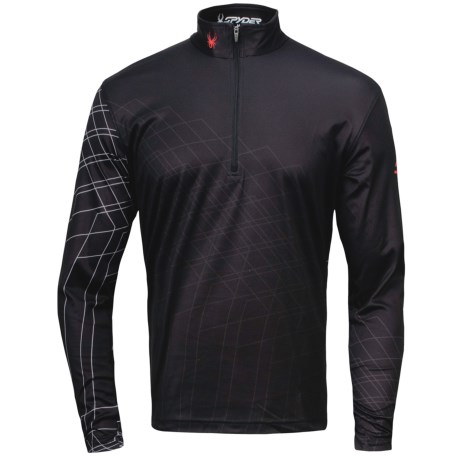 Spyder Powergrade Dry W.E.B. Base Layer Top - Lightweight, Zip Neck, Long Sleeve (For Men)
