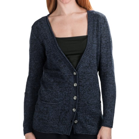 Nomadic Traders St. Germain Boyfriend Cardigan Sweater - Melange (For Women)