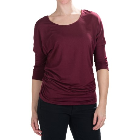 Nomadic Traders Route 66 Ruched Shirt - Stretch Jersey, 3/4 Dolman Sleeve (For Women)