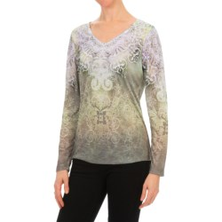 Nomadic Traders Noma Papyrus Print T-Shirt - Long Sleeve (For Women)