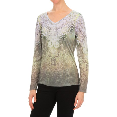 Nomadic Traders Noma Papyrus Print T-Shirt - Long Sleeve (For Women)