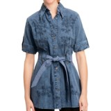 Scully Cantina Collection Tunic Shirt - Pima Cotton, 3/4 Sleeve (For Women)