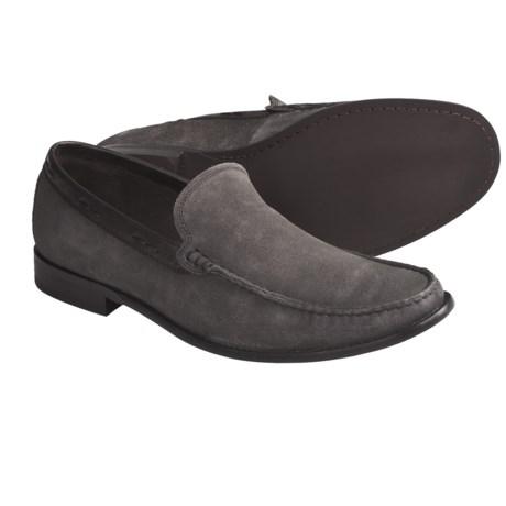 John Varvatos Star USA Side Buck Venetian Loafer Shoes - Suede (For Men)