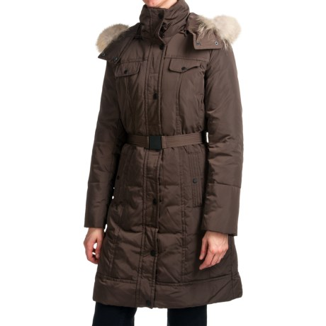 Andrew Marc Brighton Long Down Coat - Coyote Fur, Removable Hood (For Women)