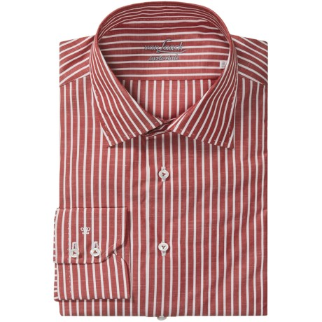 Van Laack Set StripeShirt - Tailor Fit, Cotton-Linen, Long Sleeve (For Men)