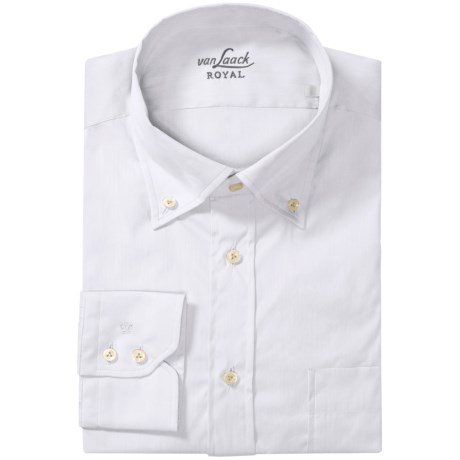 Van Laack Ron Cotton-Nylon Shirt - Button Down, Long Sleeve (For Men)