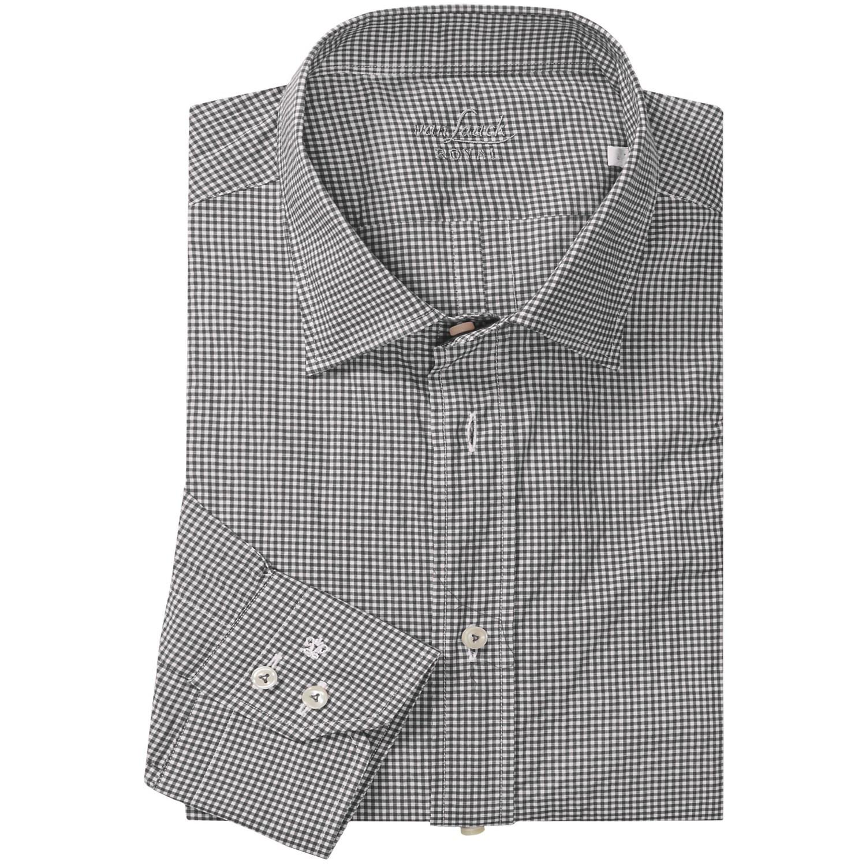van laack ret micro check shirt for men 5971x save 55. Black Bedroom Furniture Sets. Home Design Ideas