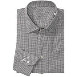 Van Laack Ret Micro-Check Shirt - Stretch Cotton, Long Sleeve (For Men)