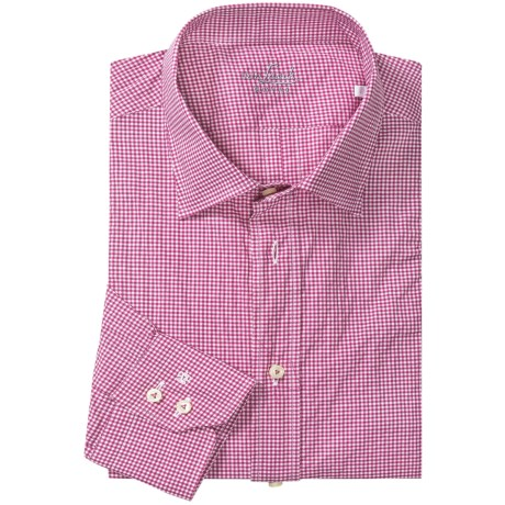 Van Laack Ret Micro-Check Shirt - Stretch Cotton, Long Sleeve (For Men)