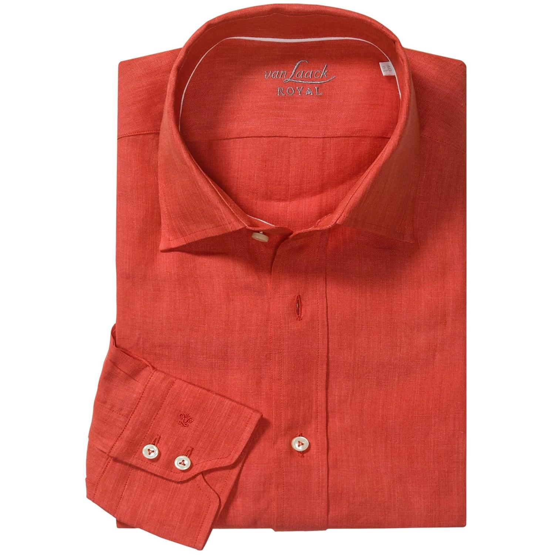 van laack reto linen shirt for men 5972a save 46. Black Bedroom Furniture Sets. Home Design Ideas