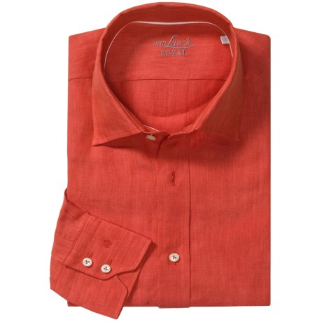 Van Laack Reto Linen Shirt - Spread Collar, Long Sleeve (For Men)