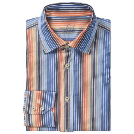 Van Laack Ret Cotton Shirt - Spread Collar, Long Sleeve (For Men)