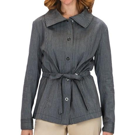 Lafayette 148 New York Static Stripe Jacket - Stretch Cotton (For Women)