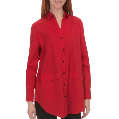 Lafayette 148 New York Anders Shirt - Italian Stretch Cotton, Long Sleeve (For Women)
