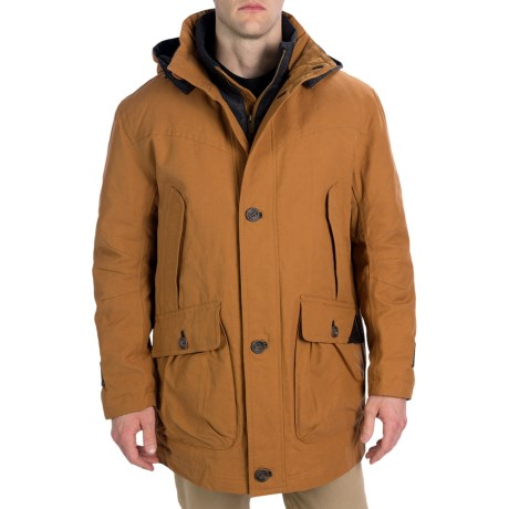 Rainforest Storm Parka - Waxed Cotton, Removable Liner (For Men)
