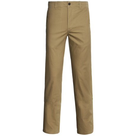 Flat Front Twill Pants (For Men)