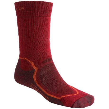 Icebreaker Hike Socks - Merino Wool, Crew (For Men)