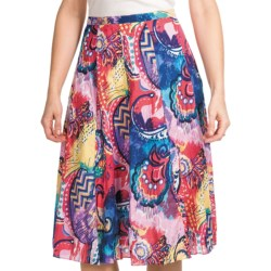 Casual Studio Patterned Cotton Skirt (For Women)
