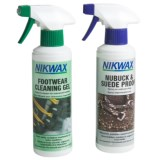 Nikwax Clean & Waterproof Nubuck-Suede Footwear Kit - Twin Pack, 10 fl.oz.