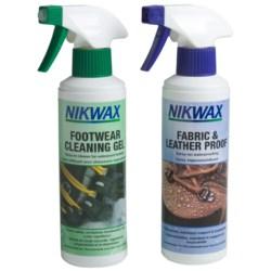Nikwax Clean & Waterproof Fabric-Leather Footwear Kit - Twin Pack, 10 fl.oz.