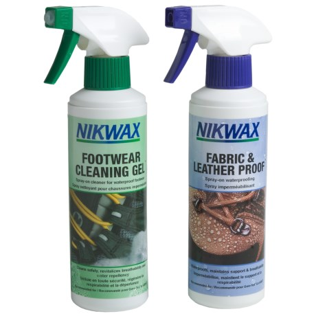Nikwax Clean & Waterproof Fabric-Leather Footwear Kit - Twin Pack, 10 fl.oz.
