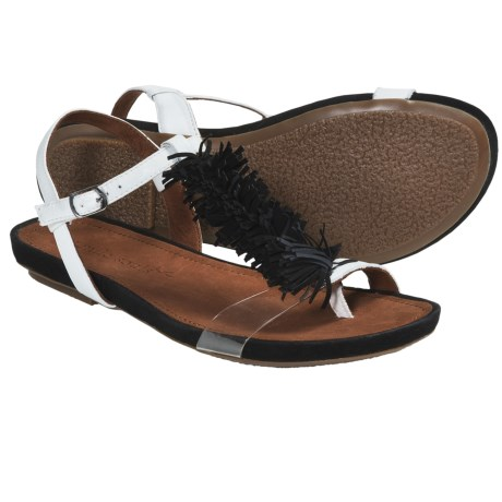 Gentle Souls Bless Summer Fringed T-Strap Sandals (For Women)
